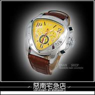 惡南宅急店【0085F】真三眼機械錶『法拉利時尚錶』可當情侶對錶。單款區《送禮盒》