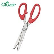 日本可樂牌Clover不鏽鋼5mm鋸齒剪刀36-631鋸齒形剪刀(長22cm)特殊造型花邊剪拚布剪刀