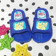 精靈寶可夢 皮卡丘童款一體成形防水拖鞋 [1710] 藍 MIT台灣製造【巷子屋】