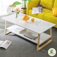 【BIGNOSE大鼻子】簡約方形雙層大茶几桌120cm_2色