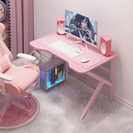 Game Chair Game Chair Pink Gaming Table Computer Desktop Table Game Girl Home Table Live Table and Chair Set Combination Net Red Desk