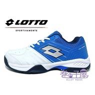 【新春回饋↘滿$1300折$100】LOTTO樂得-義大利第一品牌 男款TTOUR 600 全地型網球鞋 [6806] 白藍【巷子屋】