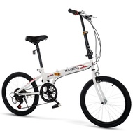 🔥Ready stock🔥Basikal lipat 16Inch、20Inch Folding Variable Speed Bicycle Female Male Adult Student Portable Foldable