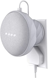 KIWI design Outlet Wall Mount Rubber Holder Compatible with Home Mini Nest Mini by Google, A Space-Saving Accessories Case for Home Mini Nest Mini Speaker(Gray)