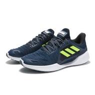 【adidas 愛迪達】慢跑鞋 運動鞋 深藍 螢光 透氣 休閒 CLIMA COOL VENT SUMMER 男(FW3012)