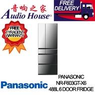 PANASONIC NR-F603GT-X6 488L 6 DOOR FRIDGE *** 1 YEAR PANASONIC WARRANTY *** FREE DELIVERY !!