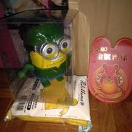 小小兵跳舞機器人公仔 綠色透明盒