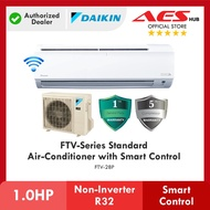 [ WIFI ] DAIKIN 1HP 1.0HP FTV Series Standard Non-Inverter Air Conditioner R32 Gas FTV28P Aircond Penghawa Dingin 冷气机