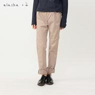 a la sha+a修身造型剪接設計合身褲