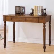 【YFS】安娜全實木3.5尺書桌-100x60x74cm(兩色可選)胡桃