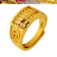 Gold abacus ring men's 916 real gold