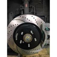 09~Luxgen U7 T.SGD 安全煞車 前輪組 冰冰運動碟盤 競技版 綠皮來令片 煞車皮