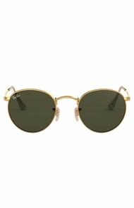 Rayban Round Gold Frame Sunglasses