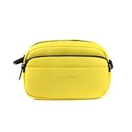 KANGOL 側背包 方包 淺黃色 夾層 6025300461 noA49
