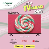 DEVANT 32-inch 32STV103 HD Ready Smart TV - Pre-loaded with Netflix, YouTube and Anyview Cast App