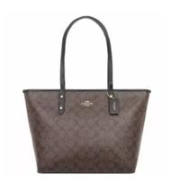COACH | กระเป๋าสะพายไหล่สำหรับผู้หญิง COACH CITY ZIP TOTE IN SIGNATURE F58292