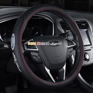 高品質 Ford 福特 KUGA Fiesta Focus ECOSPORT MK2 MK3 方向盤皮套 真皮方向盤套
