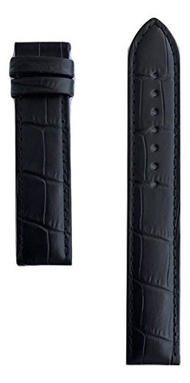 (Tissot) Tissot Men s PRC 200 19mm Black Leather Band Strap for T055417 or T055410-0759614686642