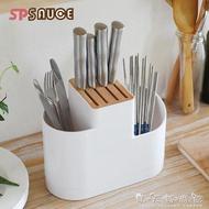日本創意瀝水刀架廚房多功能置物架筷子簍菜刀收納架刀座刀具架子