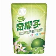 奇檬子天然檸檬生態濃縮洗衣精補充包2000ml*8包/箱