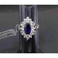逢低買進正是時候~錫蘭天然絲絨藍皇家藍藍寶石剛玉1.38克拉鑽戒~附中國寶石鑑定書~火光好