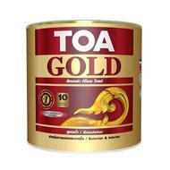TOA โกลด์ สีทองคำ ทีโอเอ โกลด์ สีทองคำอะคริลิกสูตรน้ำ 1/4 GL สีทองสวิส สีทองยุโรป สีทองพรีมา