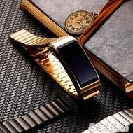 華為B5錶帶華為B3青春版鋼制腕帶華為B5手環硅膠錶帶鈦金灰金屬