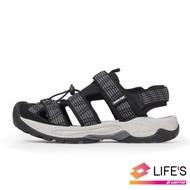 LOTTO 義大利 男 護趾排水運動涼鞋(黑)