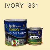 APPLE EPOXY 1L -  831 Ivory • Apple • Cat Lantai