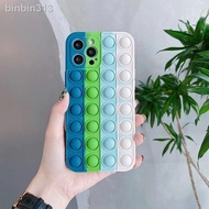 Cases◕┋▫Pop It Fidget Rainbow Silicone Case Samsung A12 A11 A02S A21S A20S Reliver Stress Phone Cove