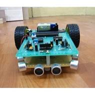 『好人助教』8051專題製作:超音波感測,障礙閃避自走車 學生專題