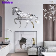 [Initiatour] Animal Horse Stereo Acrylic Mirror Wall Sticker Tv Background Wall Decoration