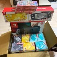 任天堂switch紅藍/灰/lite主機,台灣公司貨,可加購健身環大冒險(台灣公司貨)