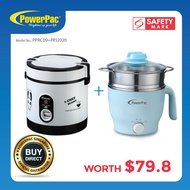 [Bundle set] PowerPac 0.6L Portable Rice Cooker + 1.2L Stainless Steel Multi cooker (PPRC09+PPJ2020)