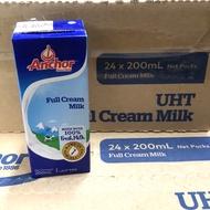 安佳 純牛奶 200ml 有吸管 超高溫瞬間滅菌全脂保久乳 24罐/箱 2020.08.09