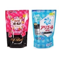 ●魅力十足● 日本P&G 3D洗衣膠球/補充包 2倍洗淨消臭(藍) 花香柔軟精(紅) 洗衣球 另有 盒裝