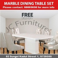 Marble Series 2 Dining Table Set [ 1 Table + 4 Chairs ] [ Free Delivery + Installation ]