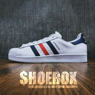 SHOEBOX《保證正品》adidas Original SuperStar Foundation 白藍紅 S79208