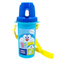 OSK OSK 兒童直飲水瓶哆啦A夢600ml【一鍵開口】日本製造SC-600B