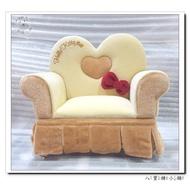 八寶糖小舖~Hello Kitty珠寶盒 凱蒂貓飾品盒 沙發造型掀蓋首飾盒 黃色款