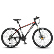 🎉 2021 NEW 🎉 RALEIGH Mountain Bike 24/27/30/33 Speed Disc Brake Shock-Absorbing Male and Female Student Fitness Cross-Country Racing 24-inch 30-speed High Carbon Black Red