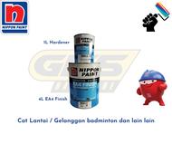 1 & 5L Nippon Paint EA4 Finish Epoxy + Hardener for Floor - Cat Lantai / Gelanggan badminton dan lain lain