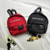 PS中壢 KANGOL 後背包  KANGOL後背包  Font mini backpack 雙色背帶後背包 小包