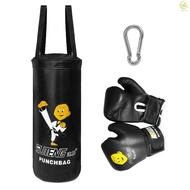 SSTAR Kids Punch Bag and Gloves Boxing Hanging Punch Bag with Gloves Kick Boxing Bag and Training Gloves Youth Muay Thai Punching Bag Mitts Age 3 to 12 Years Old