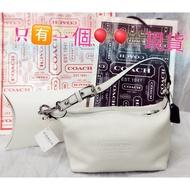 現貨 美國代購 COACH 白色優雅手提包