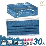【普惠醫工】成人防疫醫用口罩--丹寧海藍 (30片1盒)