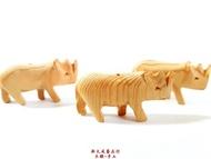 木雕 恐龍 犀牛 檜木製品 檜木吊飾 聖誕飾品 項鍊墜子 兒童玩具