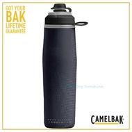 【CAMELBAK】750ml Peak Fitness運動保冰噴射水瓶 黑(CB1877001075 水壺)