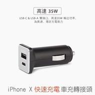 Moshi USB-C 車用 充電器(搭配原廠USB-C對Lightning可支援 iPhone X快速充電)
