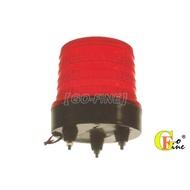 GO-FINE 夠好 台製led警示燈 LED 警示燈12v~24v小圓紅 led旋轉燈 直徑110mm固定腳3支螺絲座